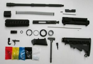 AR-15 complete rifle kit without 80% lower