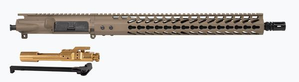 "16"" FDE Upper 15"" Keymod with Titanium Nitride Bcg and Charging Handle"