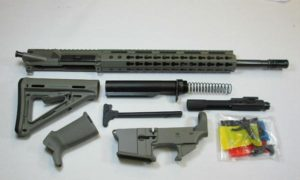 Foliage Green 300 Blackout Rifle kit with magpul Foliage stock and grip with lower