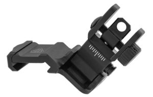 leapers utg accu-sync ar-15 45 degree offset rear flip up sight