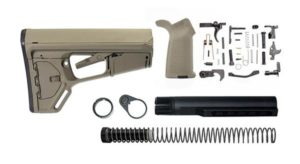 Magpul ACS-L Lower Build Kit with Stock, Lower parts, grip and stock hardware flat dark earth
