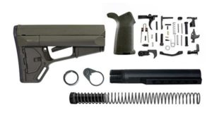 Magpul ACS Lower Build Kit with Stock, Lower parts kit, grip hardware - OD Green