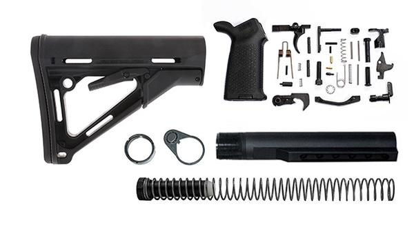 magpul ctr lower build kit with stock, stock hardware, and lower parts kit - black