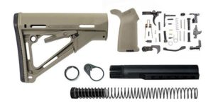 magpul ctr lower build kit with stock, stock hardware, and lower parts kit - FDE