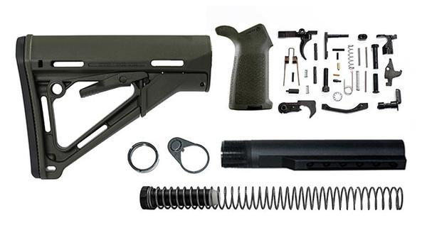 magpul ctr lower receiver build kit with stock, stock hardware, and lower parts kit - OD Green