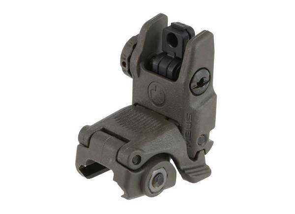 magpul mbus generation 2 rear flip-up sight - od green