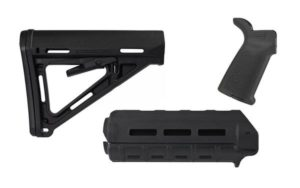 magpul moe furniture kit including Mil-spec Moe Stock, M-Lok Moe handguard, and Moe Grip
