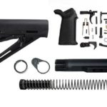 magpul moe lower build with stock, lower parts kit, and stock hardware - Black