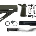 magpul moe lower build with stock, lower parts kit, and stock hardware - OD Green