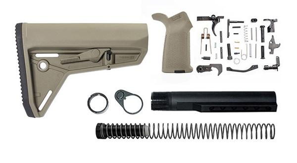 magpul moe sl lower build with stock, lower parts kit, and stock hardware - FDE