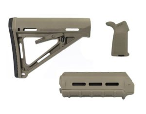 Magpul moe m-lok furniture kit FDE including Moe stock, moe handguard, and grip