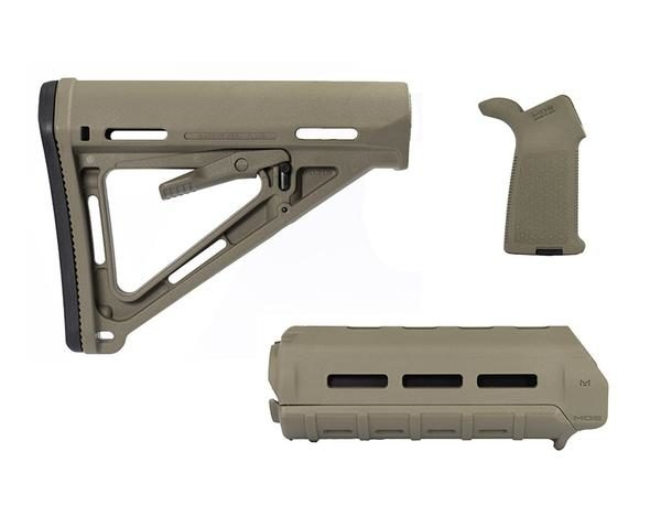 Magpul Moe M Lok Furniture Kit Handguard Carbine Stock Grip Flat Dark Earth Fde