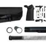 magpul moe SL-K lower build with stock, lower parts kit, and stock hardware - Black