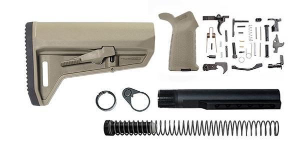 magpul MOE SL-K lower build kit stock lower parts kit stock hardware moe grip - FDE