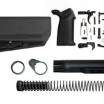 magpul moe SL-S lower build kit with stock, lower parts kit, and stock hardware - Black