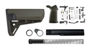 magpul moe SL-S lower build kit with stock, lower parts kit, and stock hardware - OD Green