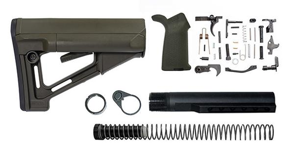 magpul STR Lower Build Kit including stock, lower parts kit - OD Green