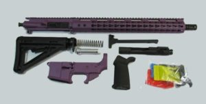 Purple cerakote Rifle kit with lower AR 15