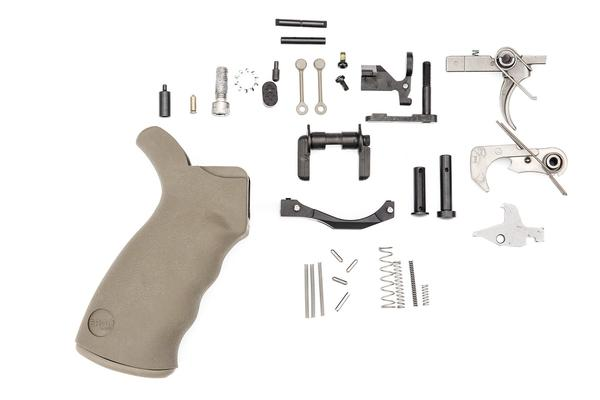 spike's tactical AR-15 Enhanced Lower Parts Kit flat dark earth