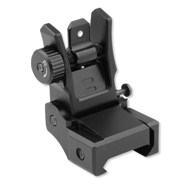 utg leapers low profile flip-up rear sight with dual aiming aperture