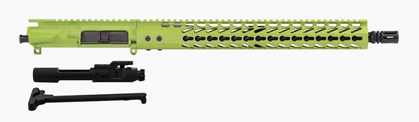 "16"" upper zombie green 15"" keymod rail including BCG"