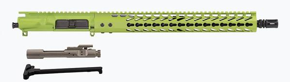 "16"" AR-15 Upper zombie green with 15"" keymod rail nickel boron bcg and charging handle"