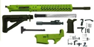 "Zombie Green 16"" Ar15 Kit with 12"" Slim Keymod with Lower"
