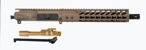Flat-Dark-Earth-ar-15-upper-10-inch-with-10-inch-keymod-titanium-nitride-bcg-and-ch