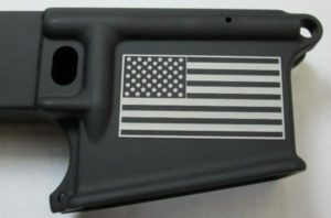 80% lower with laser engraved american flag