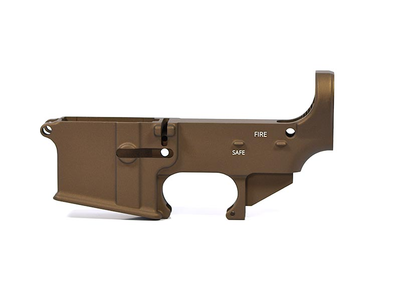 ar-15 80% Lower Receiver - Burnt Bronze