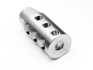 stainless steel compact muzzle brake compensator - 1/2x28 thread