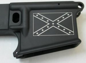 80% lower with laser engraved confederate flag