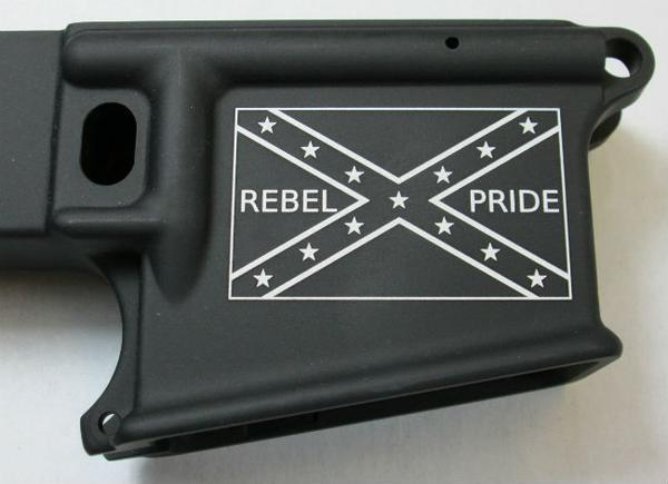 80% lower with laser engraved confederate flag rebel pride