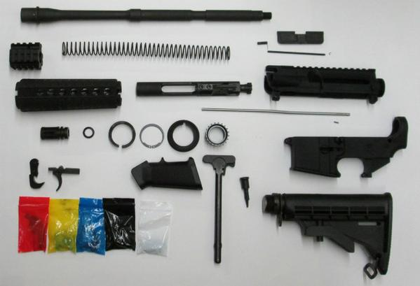 complete rifle kit with 80 percent lower