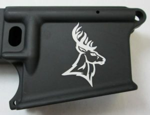 80 percent lower laser engraved with deer head 2
