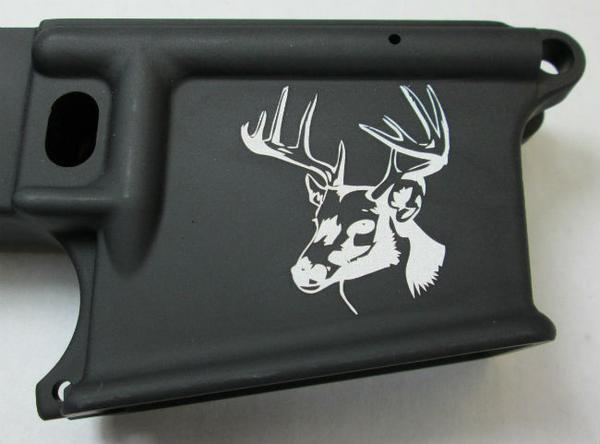 80 lower laser engraved with deer head 4