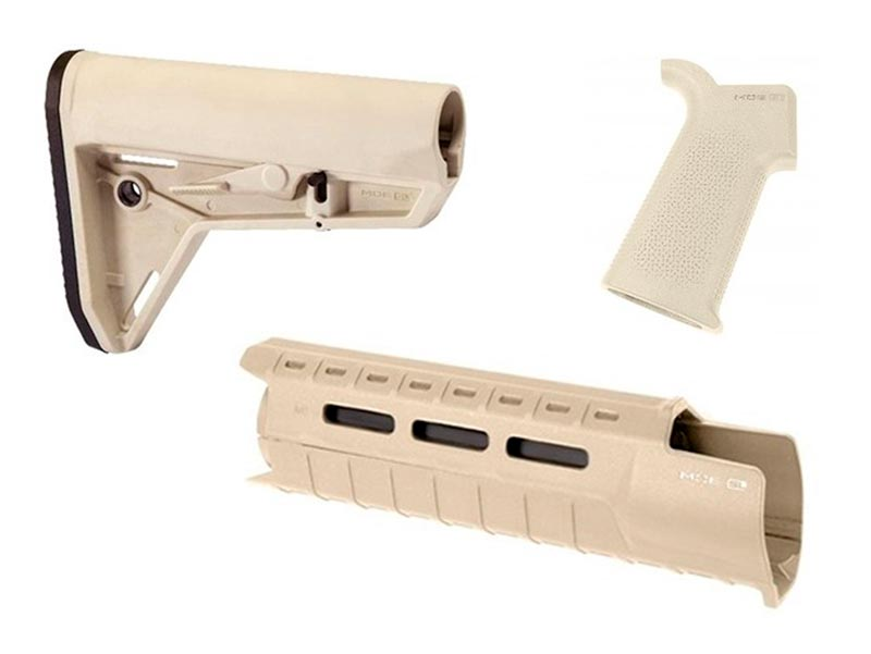 magpul moe sl sand colored carbine length furniture set for ar-15