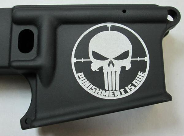 80% lower with laser engraved punisher punishment is due
