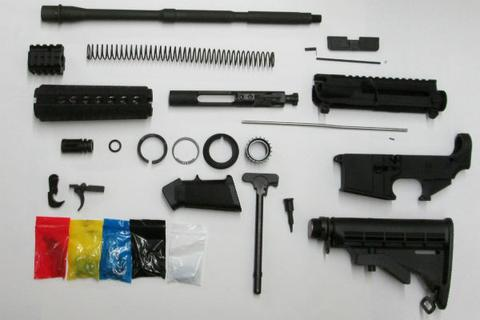 Complete AR15 Rifle Kit WITH 80% Stripped Lower Receiver