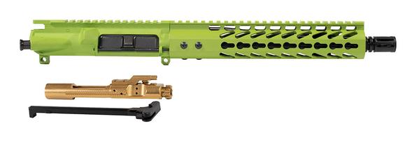 zombie-green-AR-15-10-inch-10-inch-keymod-upper-with-titanium-bcg-and-ch