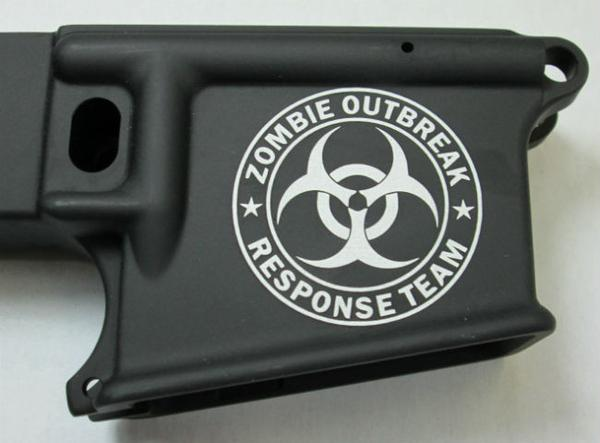 80% lower with laser engraved zombie outbreak response team