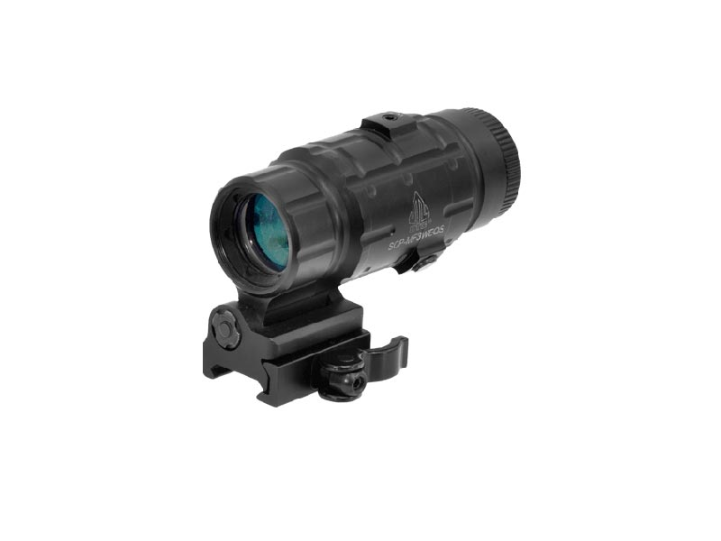 utg leapers 3x magnifier scope with windage and elevation adjustment