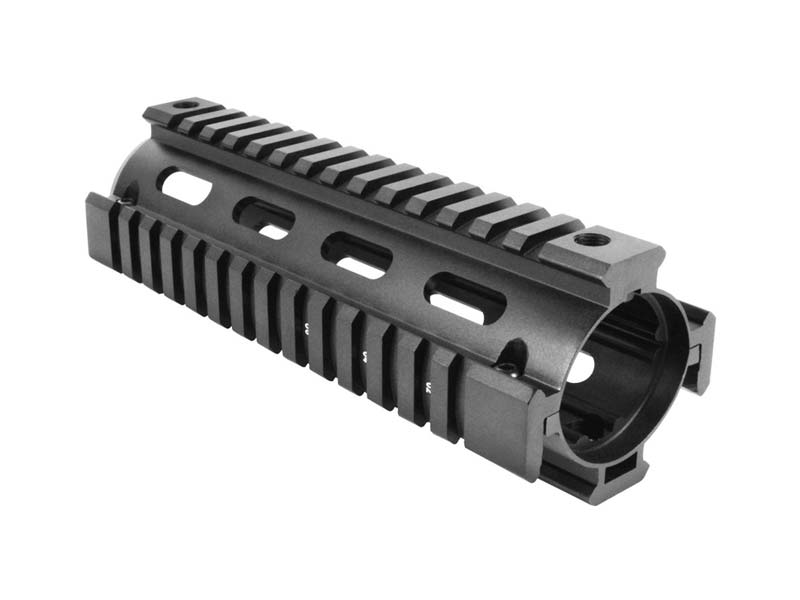 "AIM Sports AR-15/M4 6.5"" Two-Piece Quad Rail in Black"