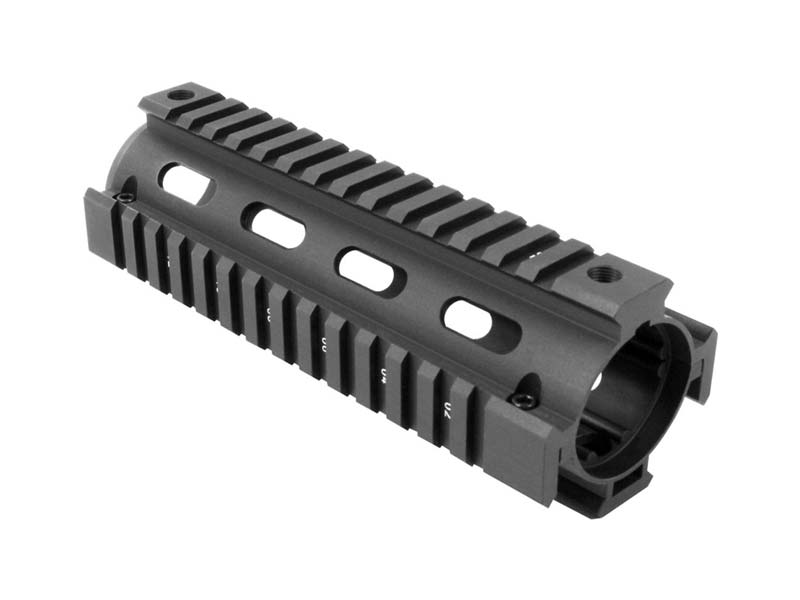 "AIM Sports AR-15/M4 6.5"" STANAG 4694 Two-Piece Quad Rail in Black"