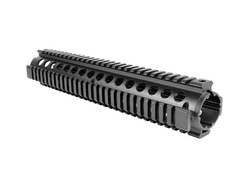 "AIM Sports AR-15/M4 12"" Two-Piece Quad Rail in Black"