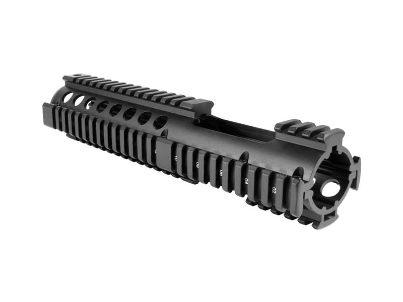 "AIM Sports AR-15/M16 10"" Two-Piece Quad Rail with Extended Rail - Black"