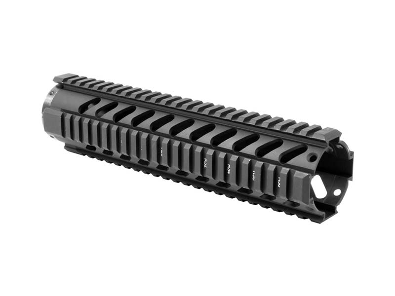 "AIM Sports AR-15 10"" Free Float Quad Rail in Black"