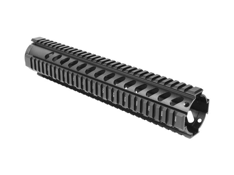 "AIM Sports AR-15 12"" Free Float Quad Rail in Black"