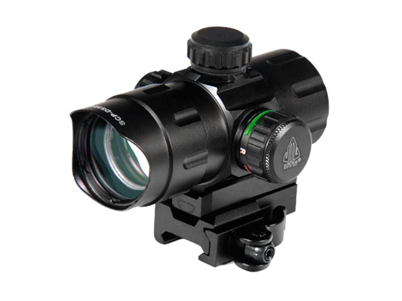 "Leapers UTG 4.2"" ITA Green/Red Dot with QD Mount"
