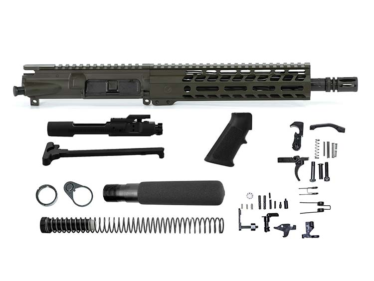 Ghost Firearms Elite 10.5″ 5.56 NATO Pistol Kit – Olive Drab OD Green